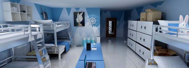 蔚藍地中海風搭配小米AI宿舍,究竟是什么樣的?